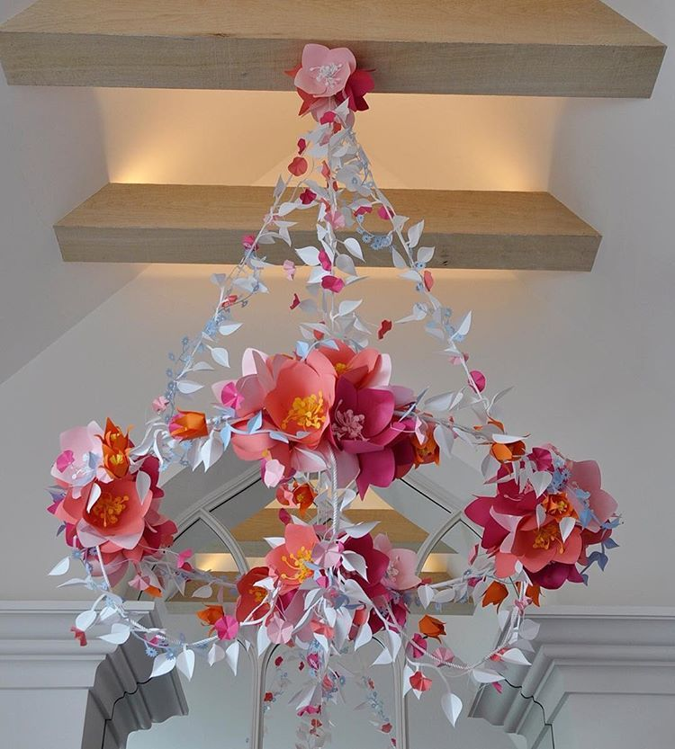 #inspirationoftheday:  This little baby that was originally made for a #wedding and is now hanging from the ceiling in a home will always be one of my favorites.  Bravo, #davidstarkdesign #team member @corriebethmakes -- it looks as good today as it did 3 years ago!  #paper #paperart #paperdecor #papwrflowers #sculpture #art #design #designbest #weddingdecor #weddingdesign #weddingplanning #handmade #handcrafted #craft #event #eventdecor #eventdesign #eventplanning #inspirationiseverywhere