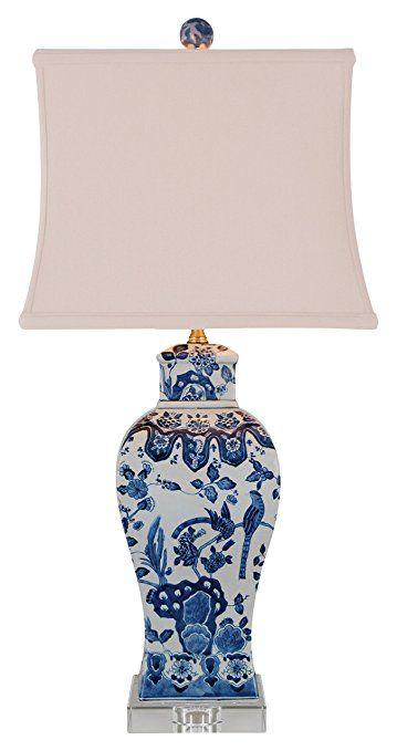 East Enterprises LPDBWN1015K Table Lamp, Blue/White