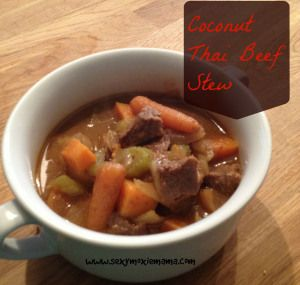 Coconut Thai Beef Stew. SO GOOD! See more at www.sexymoxiemama.com