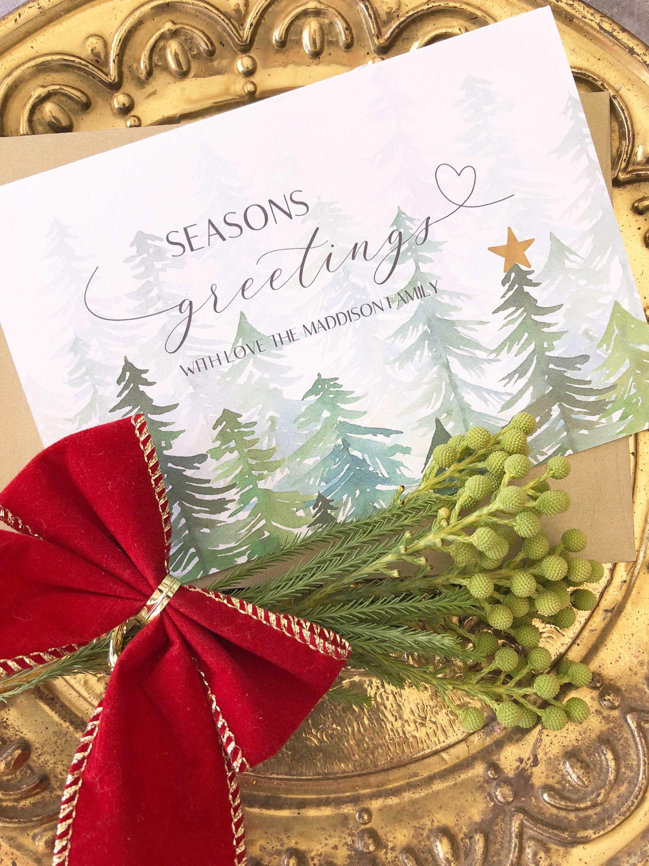 Seasons Greetings Cards, Rustic Holiday Cards