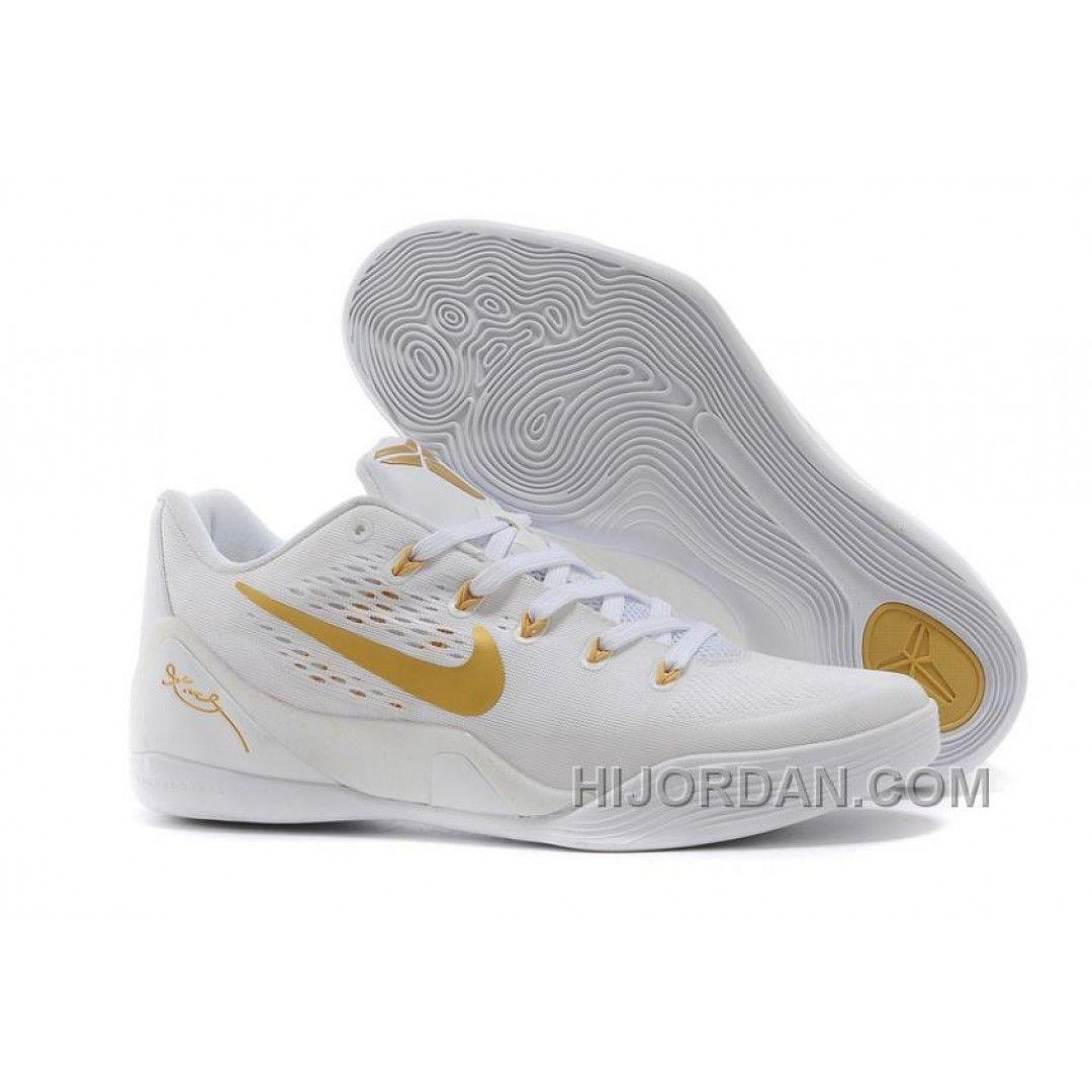 Nike Kobe 9 Low EM White Gold Mens Basketball Shoes Discount JacdHr, Price:  $86.15