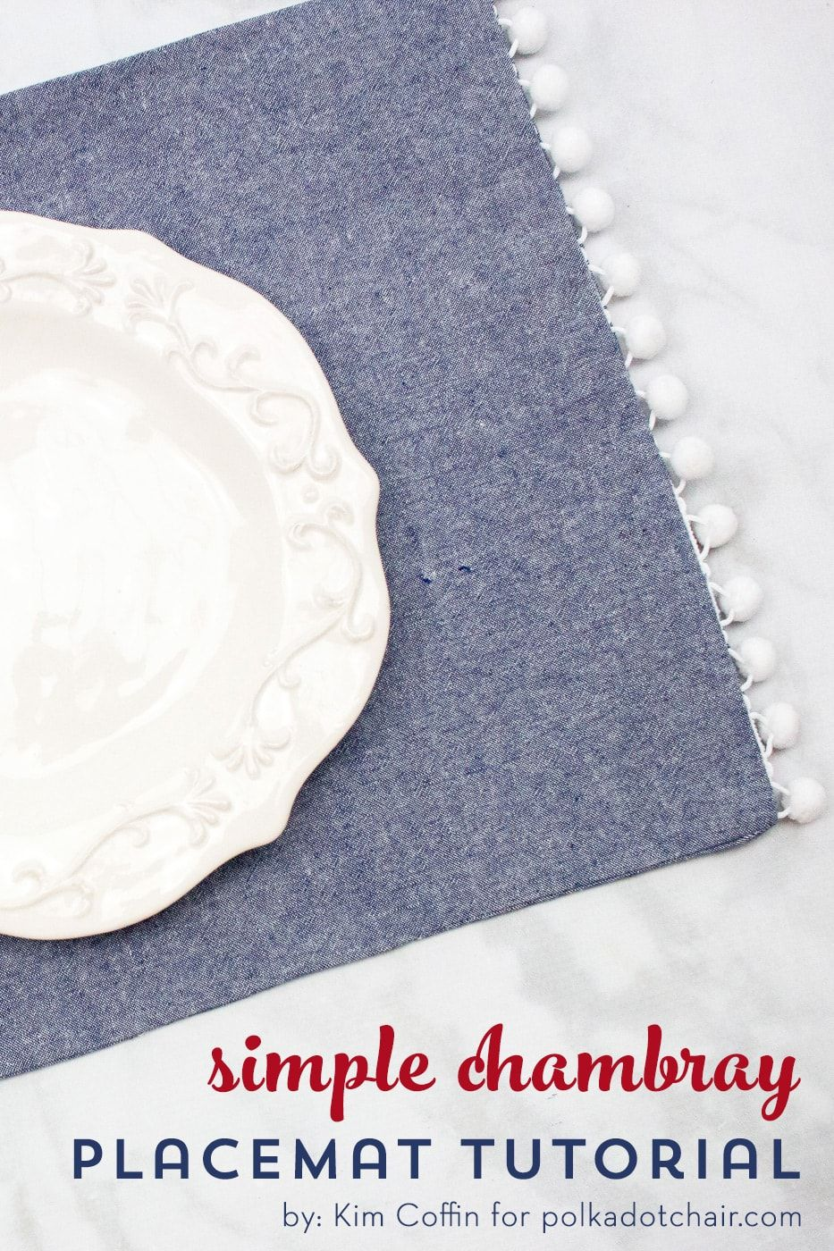 How To Sew Simple Farmhouse Style Chambray Placemats With Images