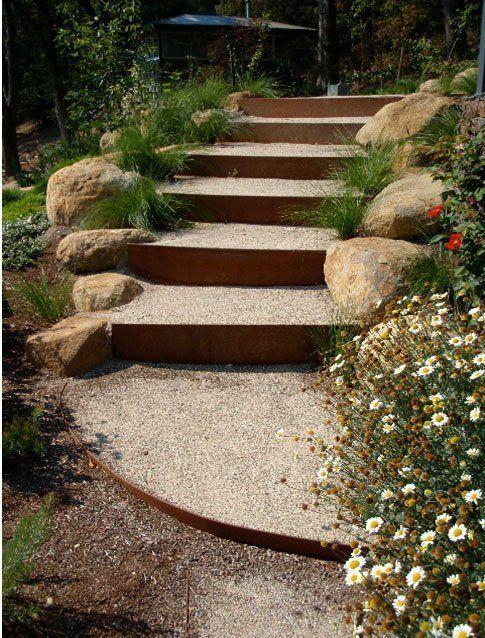 Best Image Result For Corten And Boulders Garden Steps Metal 400 x 300
