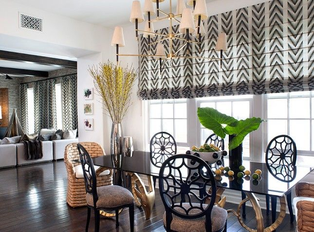 Exceptional Peek Inside Kourtney Kardashianu0027s Home   The Dining Room From Roman Shades Part 5