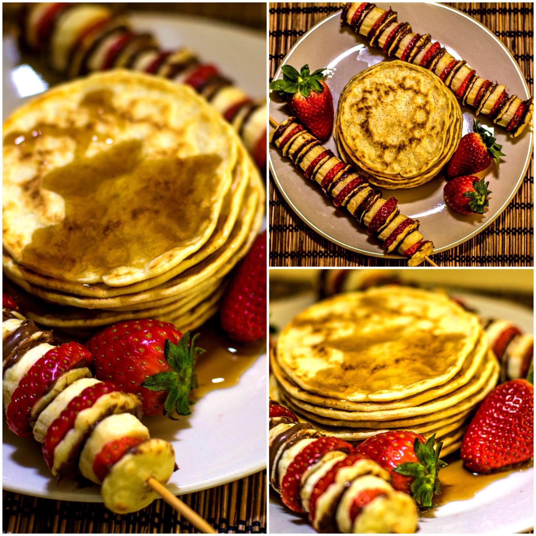 Mini nutella pancakes ! Soft and pillowy pancakes ...
