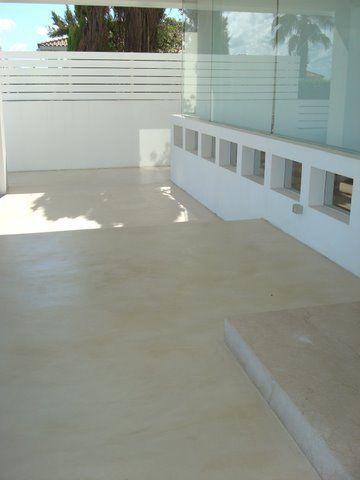 Microcemento aplicaci n en terraza microcemento pinterest - Microcemento para exterior ...