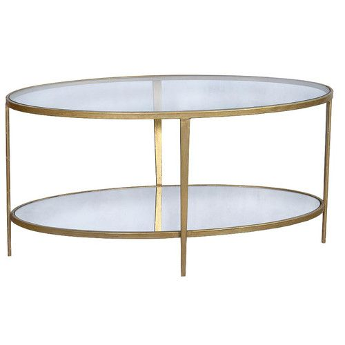 Lola Coffee Table Gold Glass Coffee Table Round Glass Coffee
