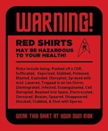 Image result for star trek redshirt meme