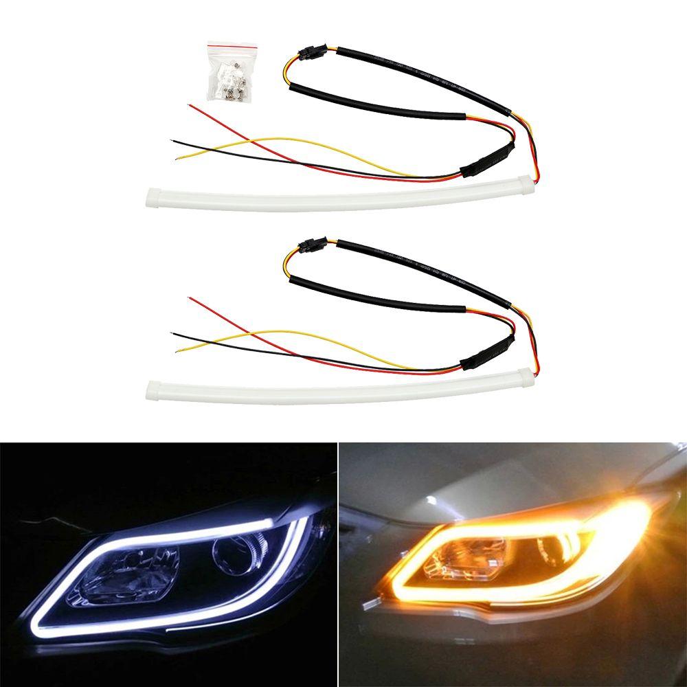 2x30cm Angel Eye Led Car Drl Daytime Running Light Auto Turn