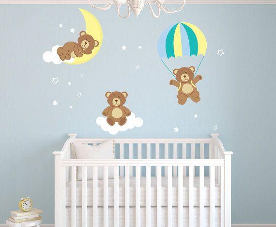 teddy bears theme wall decal bear room decor by on wall stickers design id=77031