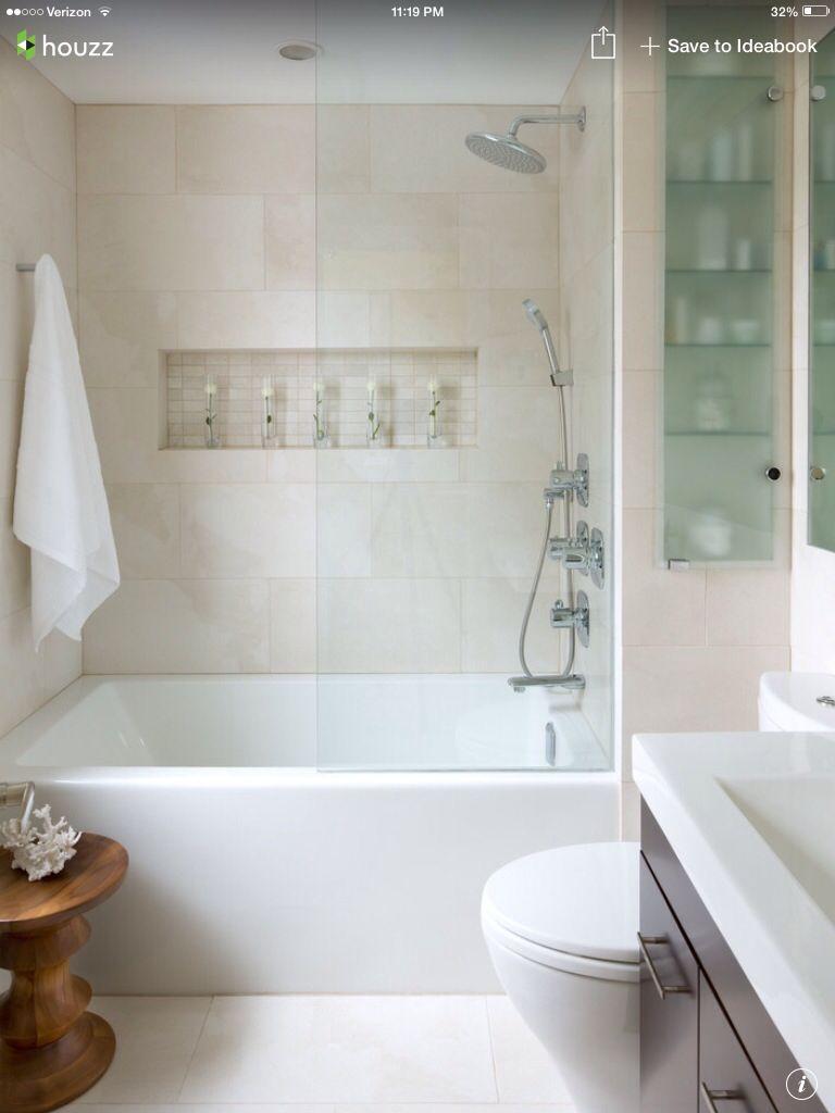 White shower tile & inlet design, floor tile, interesting concept ...
