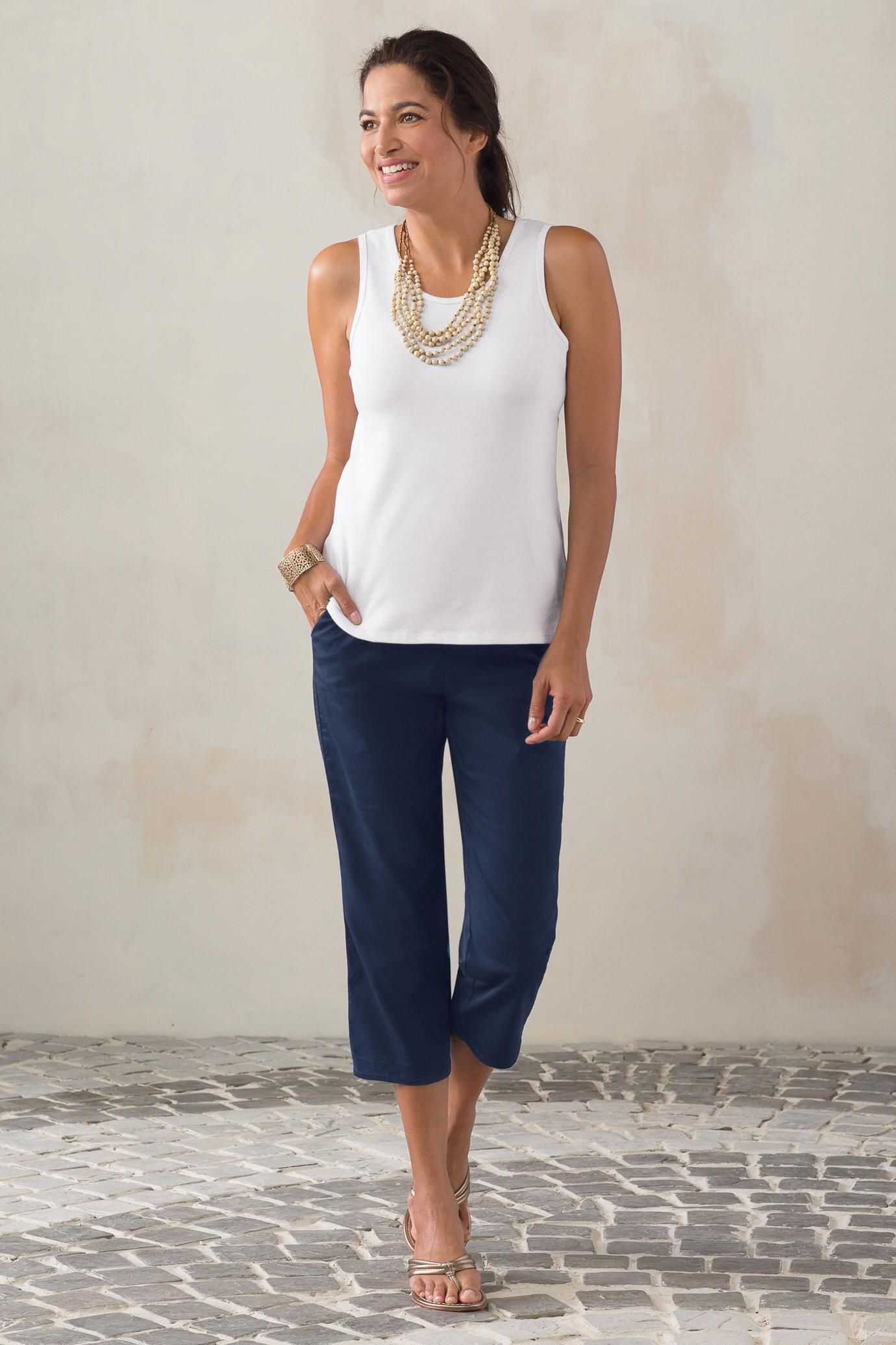 Original Fit Stretch Twill Cropped Pants: #Travelsmith $17.24 - $52.00