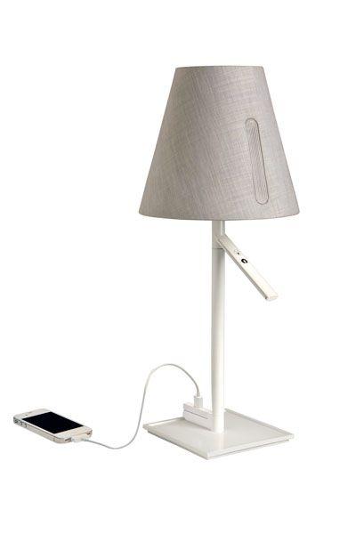 Kos lighting new elidi lamp rotating shade two settings reading ambiance usb plug