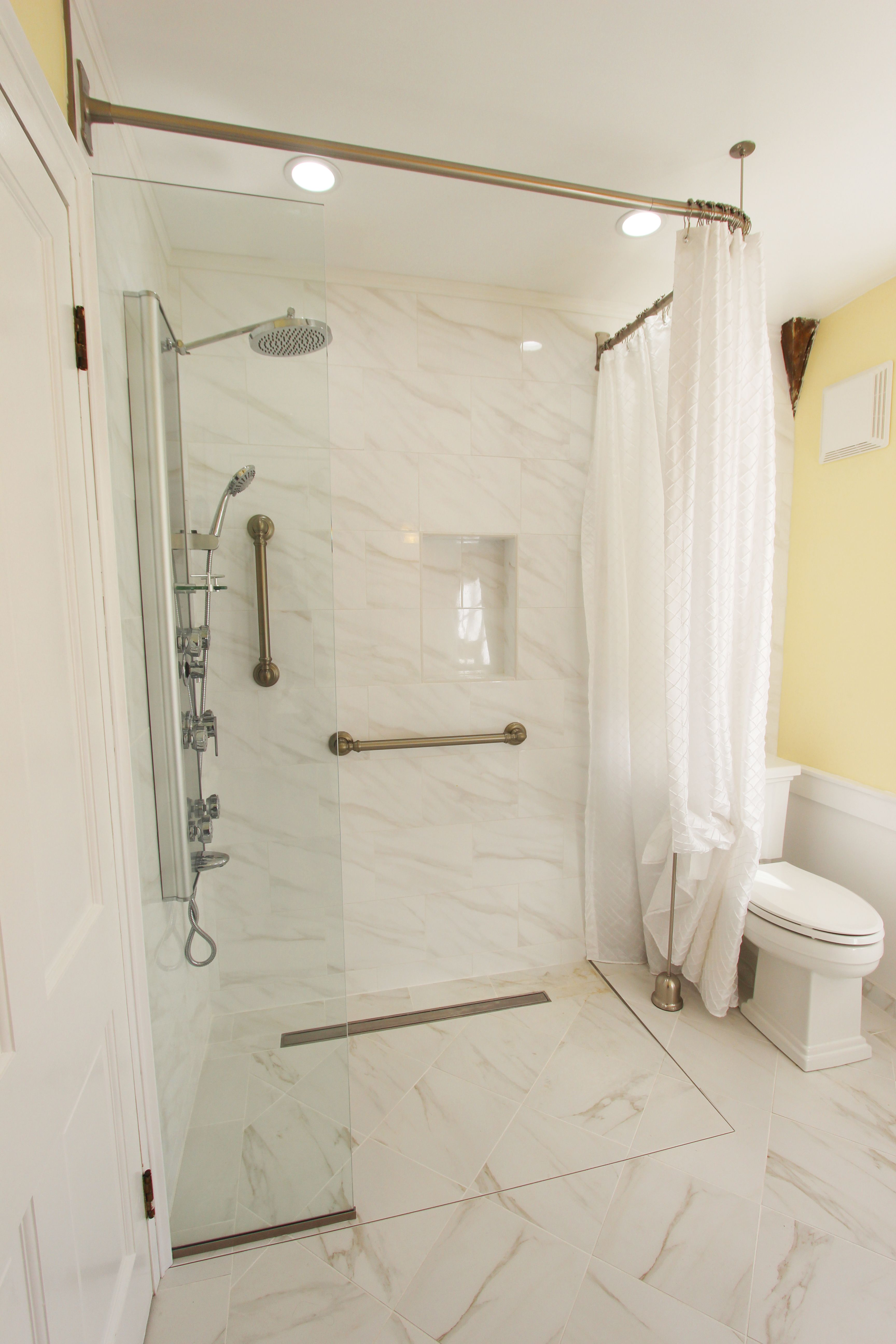 Zero Entry Walk In Shower Shower Remodel Tub To Shower Remodel
