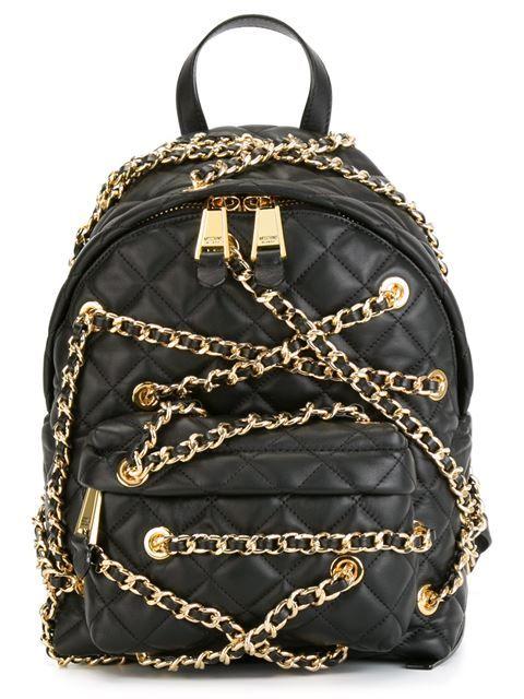 d191990e31c ... Bags for Women. Comprar Moschino mochila con detalle de cadenas en  Tiziana Fausti from the world s best independent boutiques at farfetch.com.