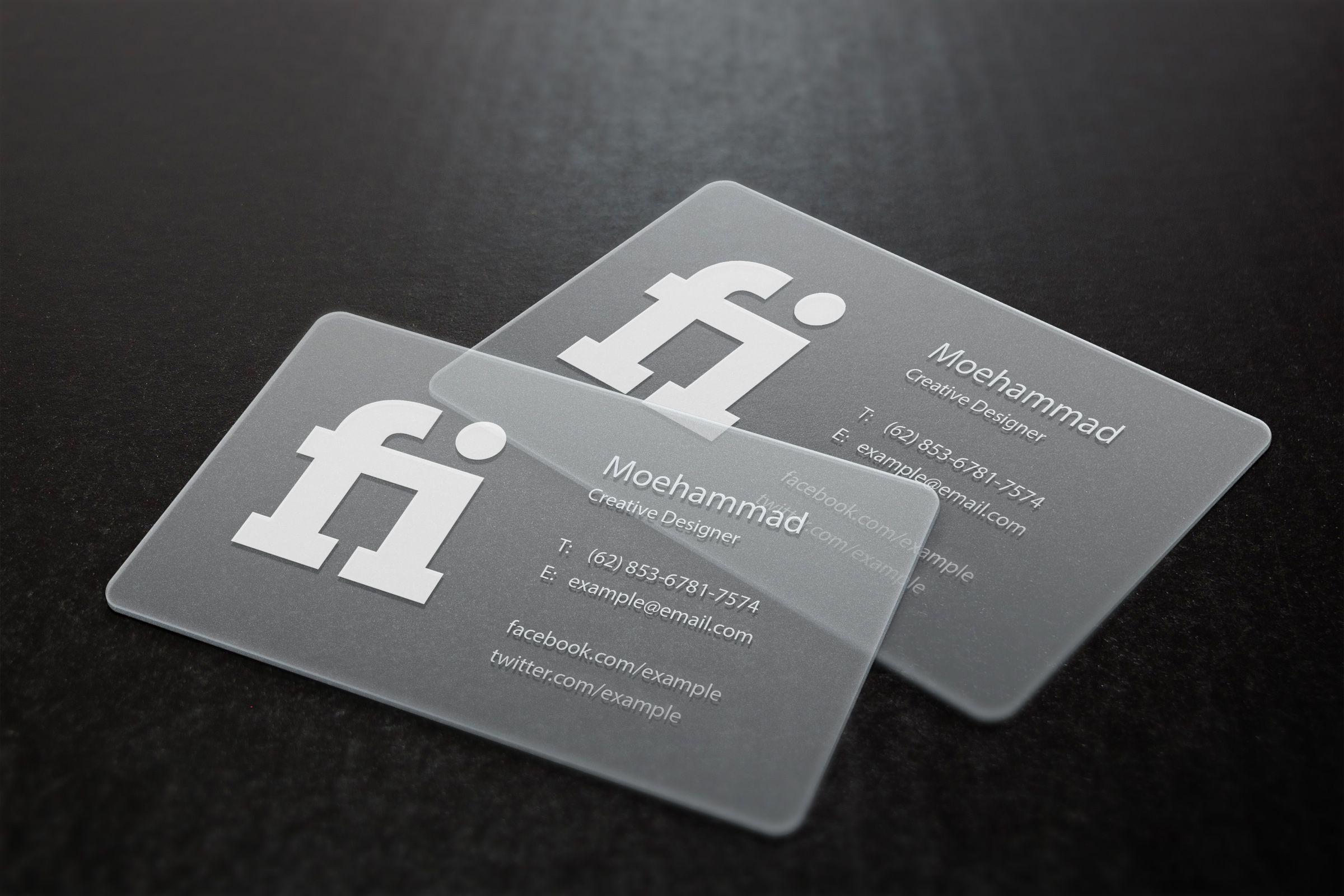 m03h4mm4d: design a transparent business card for $5, on fiverr.com ...