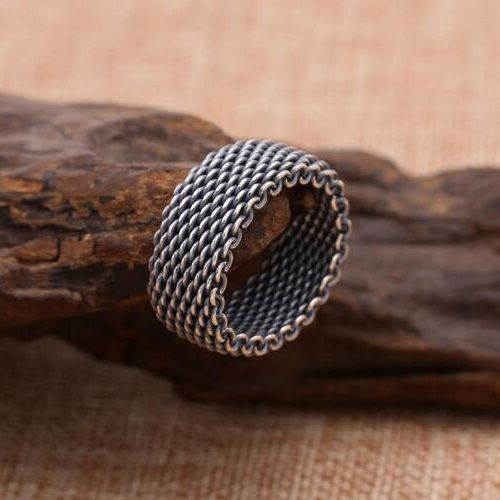 Mens Sterling Silver Braided Ring - #Braided #Mens #ring #silver #Sterling