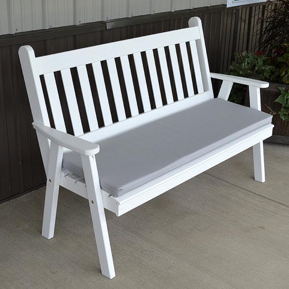 Yellow Pine Traditional English 4ft. Garden Bench | Bancos de jardín ...