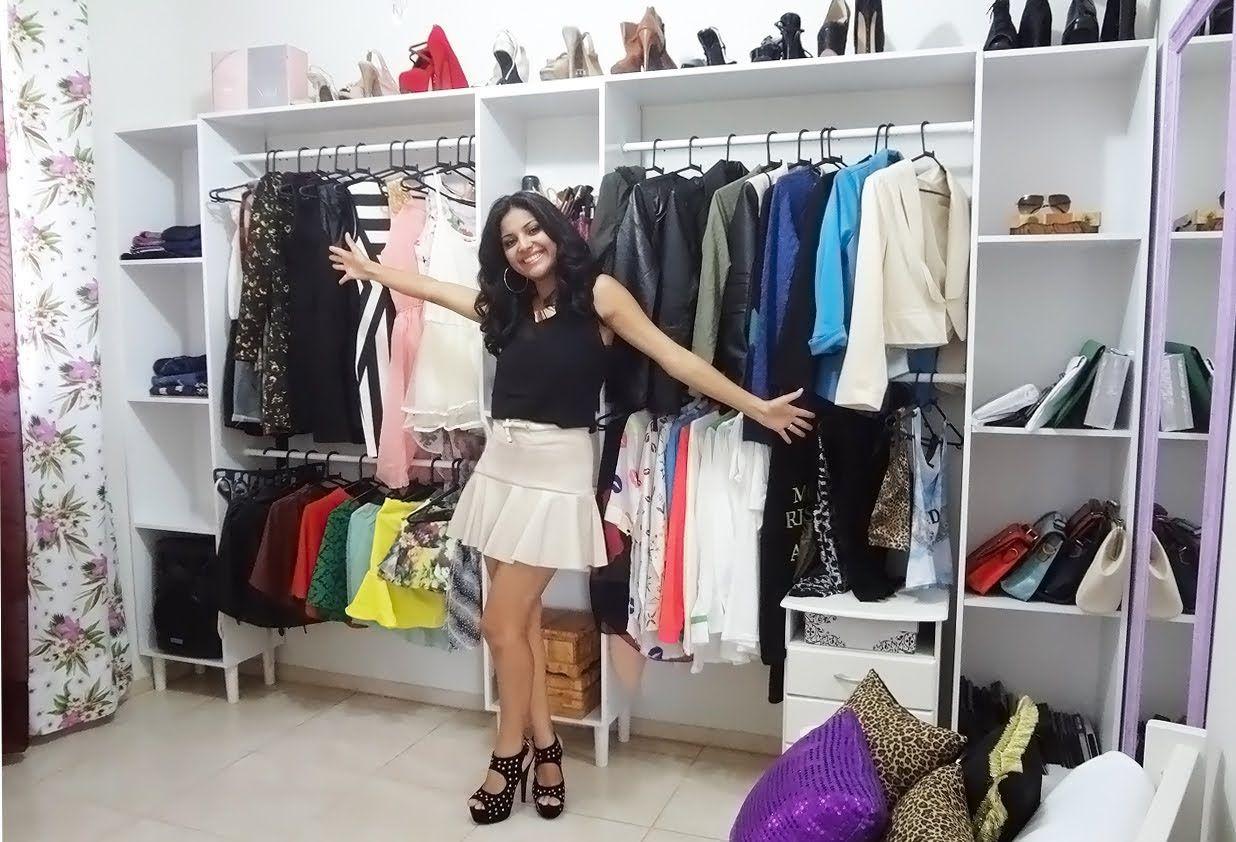 Como Montar Closet Aberto Barato Gastando Pouco Poly Gon Alves  ~ Diy Decoração Quarto Feminino E Quarto Pequeno Com Closed