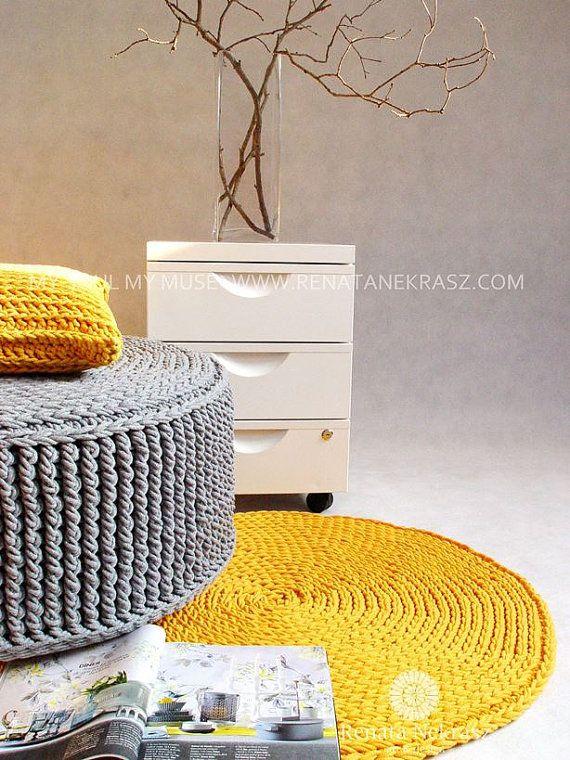 Modèle de tapis fait main crochet 003 Dans la couverture dimages, matière coton…                                                                                                                                                                                 Plus