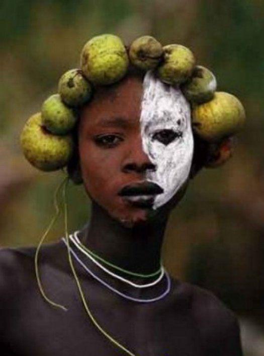 Женская красота диких племен планеты (100 фото)   Африка ...