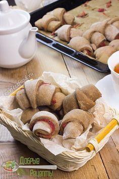 Веганское (постное) печенье-трубочки с повидлом