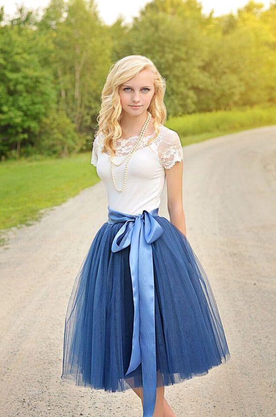 Womens Tutu, Navy Blue Tulle skirt, Navy Blue tutu, tulle skirt ...