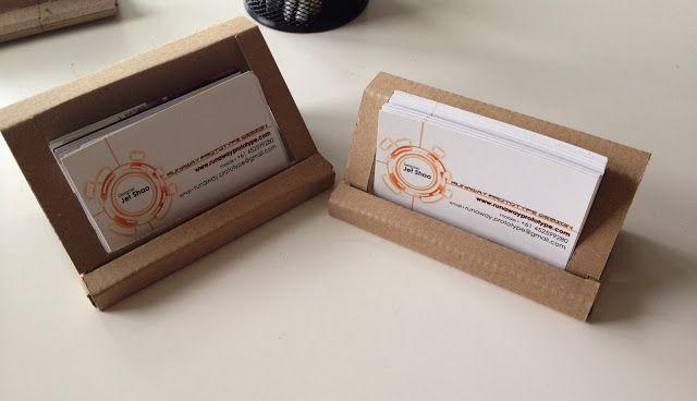 Runaway Prototype Design Cardboard Business Card Holder Reloaded