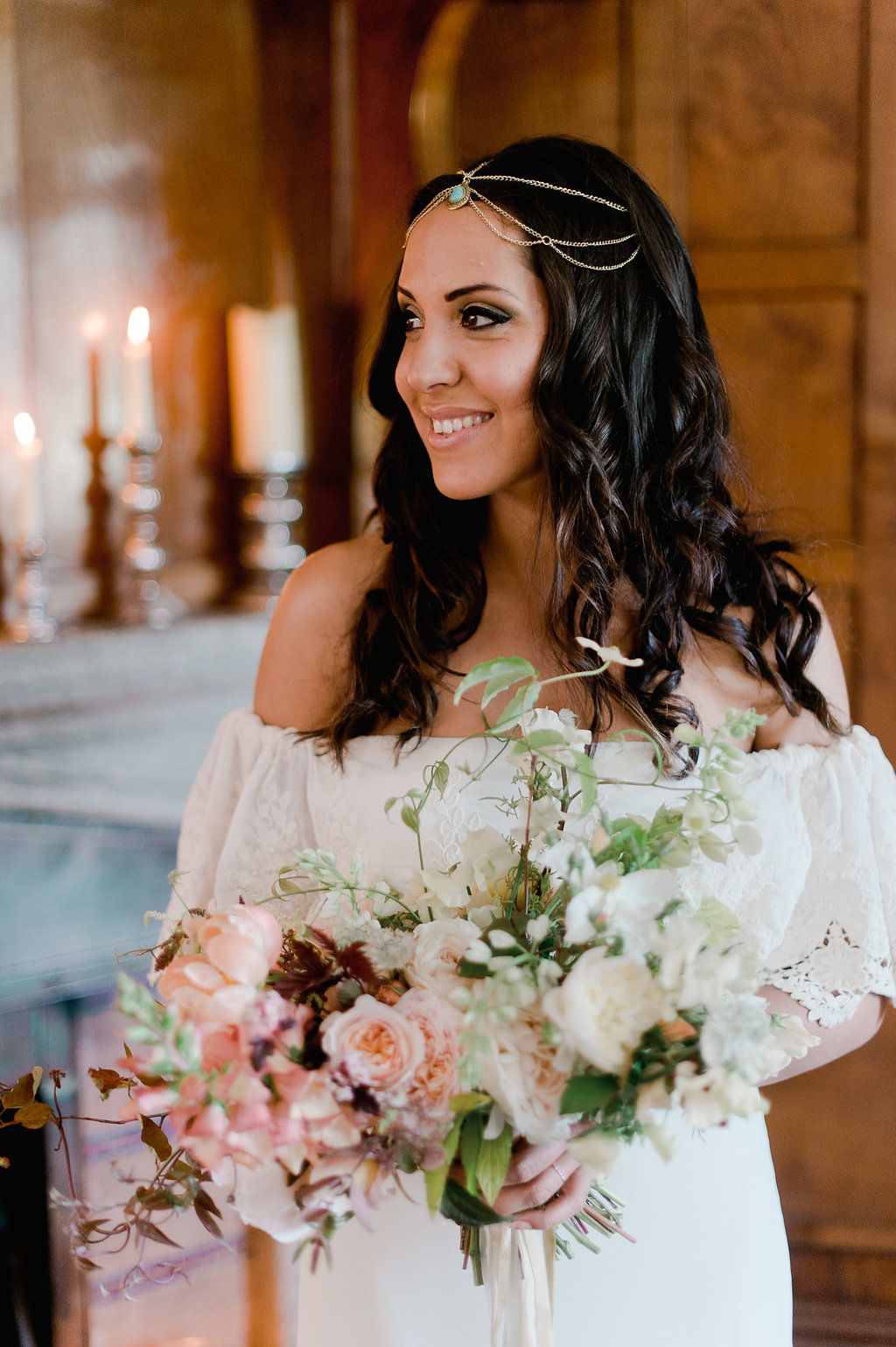 beautiful elopement at boho cornwall.. hair and makeup by