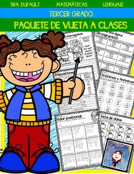 Paquete de regreso a clases (Tercer Grado) | Pinterest | De la ...
