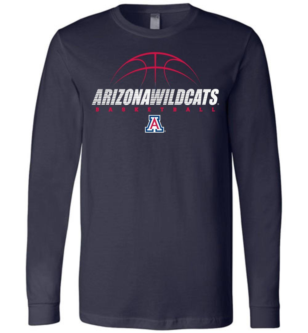 best sneakers a577a 05c86 NCAA University of Arizona Wildcats U of A - Basketball - Long Sleeve T- Shirt - uofa2477-a