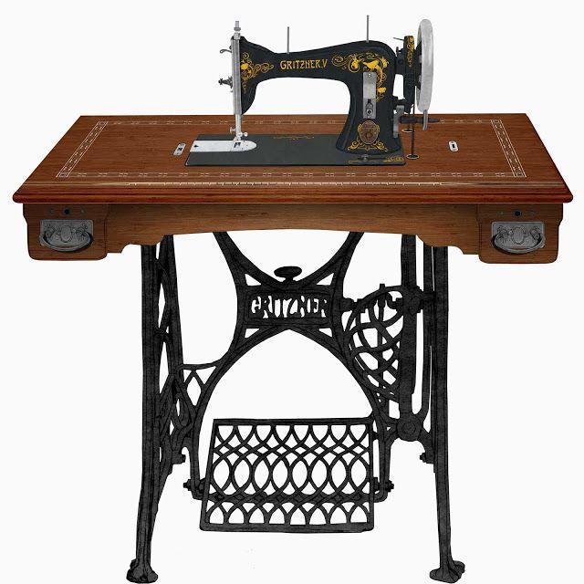 maquina de coser,Gritzner,V, dibujo | Maquina de coser