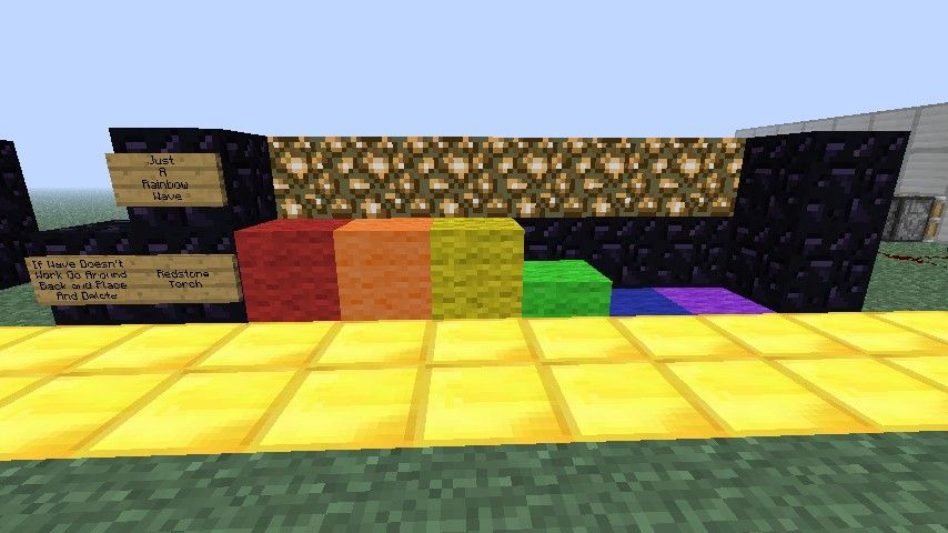 easy redstone creations | awesome redstone creations 3 - rainbow wave