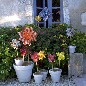 Des Moulins A Vent En Carte A Abat Jour Decoration Jardin Le Moulin Et Recuperateur D Eau