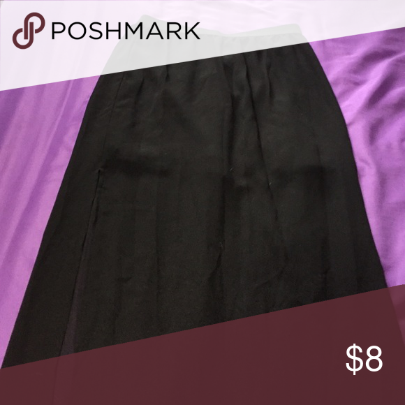 Skirt See through black skirt with slits on the sides Skirts Maxi