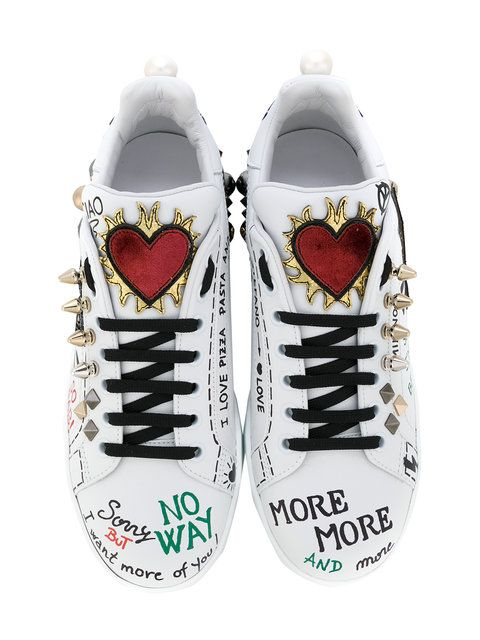 huge selection of 458c9 a2d09 Shop Dolce   Gabbana musical patch lace-up sneakers.