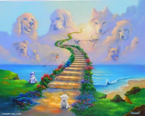 Jim Warren's All Dogs Go to Heaven.  This reminds me of the dogs in Lies That Bind.  Can you find Nelson, Caesar, Lizzie and Ophelia?