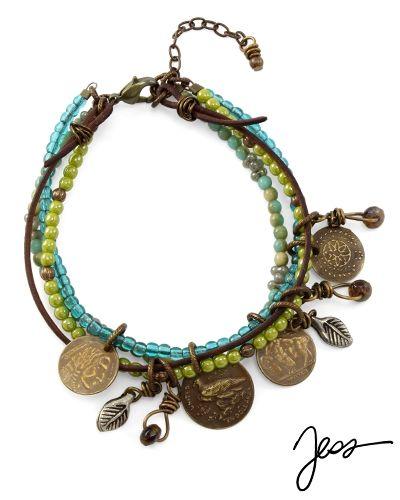 Boho Coins Bracelet by Jess for Vintaj
