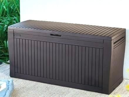 Encouraging Patio Storage Bin Ideas New And Comfy Wood Effect Plastic Box Departments 36 Outside