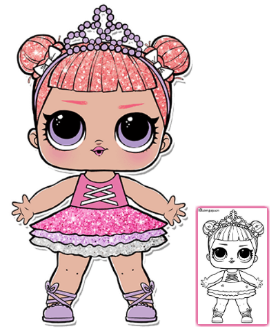 Lol Surprise Doll Coloring Pages Color Your Favorite Lol Surprise Doll Lol Dolls Coloring Pages Baby Girl Art