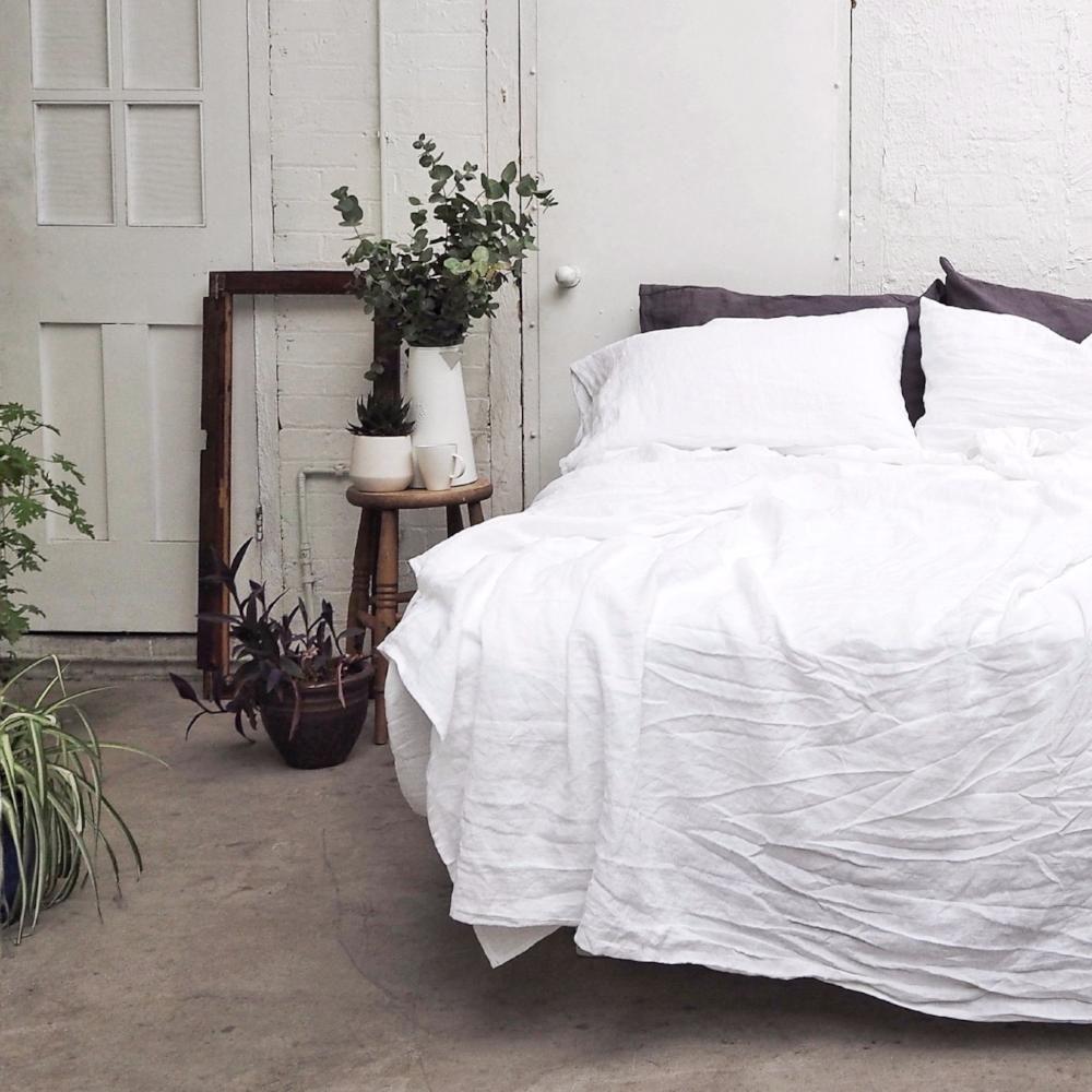 White Linen Starter Sheet Set