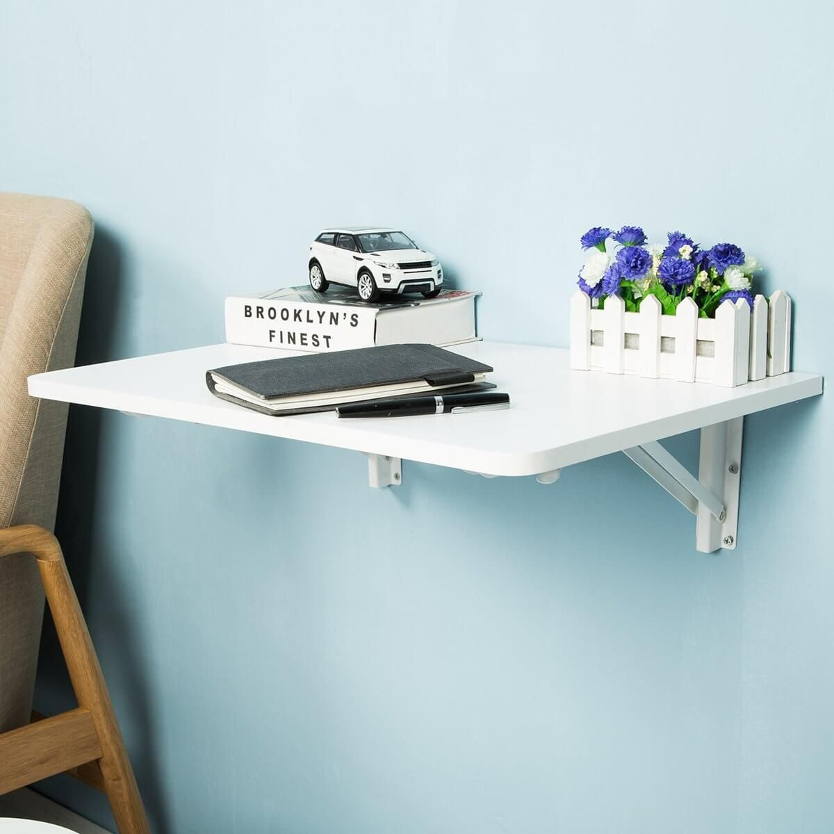 21 Practical Wall Desk Ideas For Serious Space Saving In 2020 Wall Mounted Folding Table Wall Mounted Table Wall Desk
