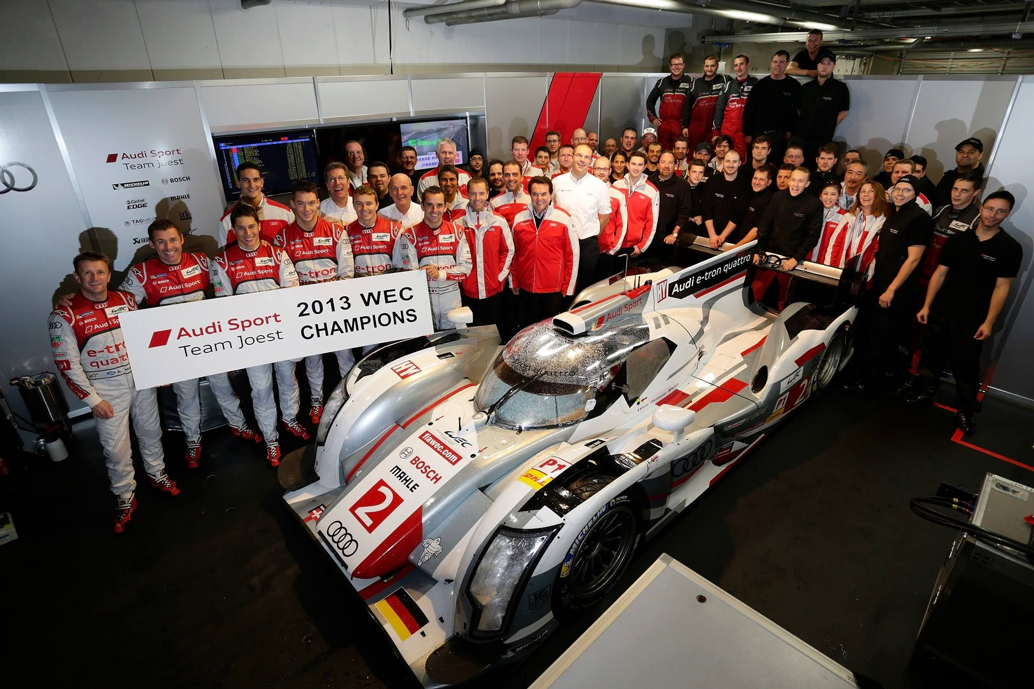 Congratulations to Audi Sport! At the FIA WEC in Fuji we registered a second successive Manufacturers' Championship, whilst in DTM, Audi Sport Team Phoenix secured the 2013 Teams' title.