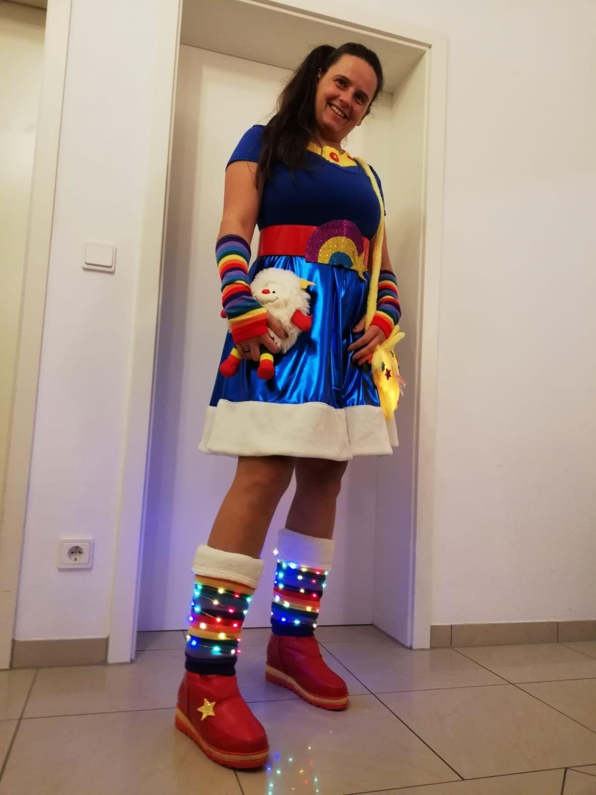 Rainbow brite costume regina regenbogen kostüm in 2020