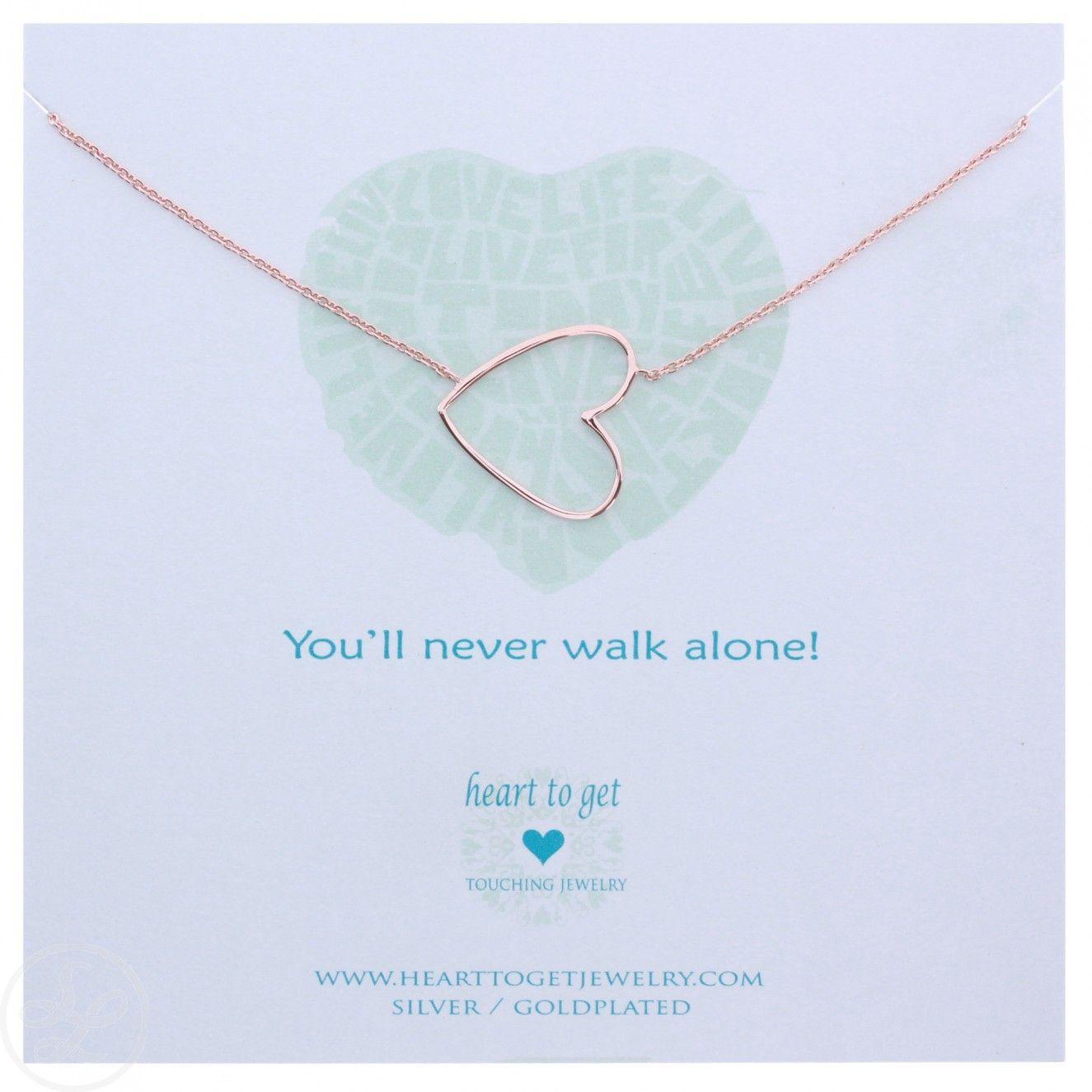 Heart to Get Ketting Big Heart Rose Goud @ www.selectedlabels.com