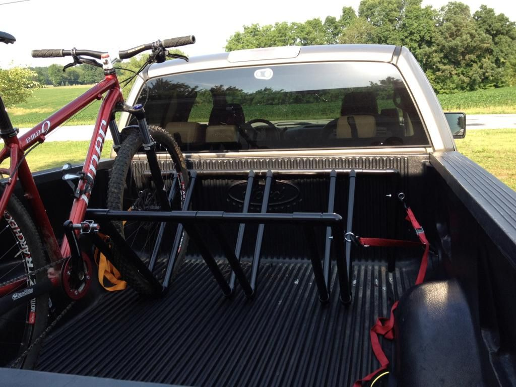 diy bed for bike kayak truck rack pvc homemade