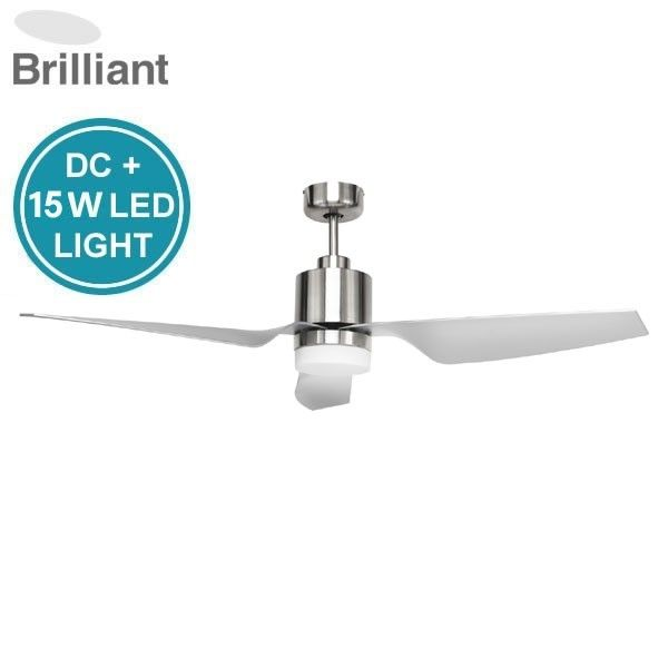 Cayman DC Ceiling Fan with LED light & Remote - Satin ...