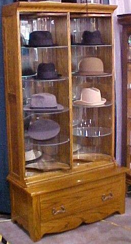 Hat Store Display Cabinet Oak Brass Lantern Antiques Hat Stores Hat Display Antique Oak Furniture