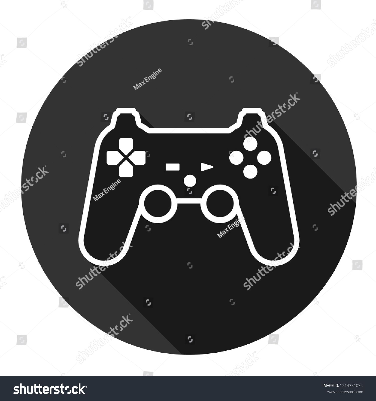 Game pad vector icon. Joystick sign. Joystick icon. EPS 10