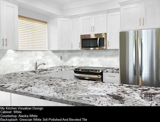 White Granite Kitchen Backsplash